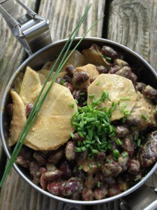 Roter Bohnensalat mit Kürbiskernmus