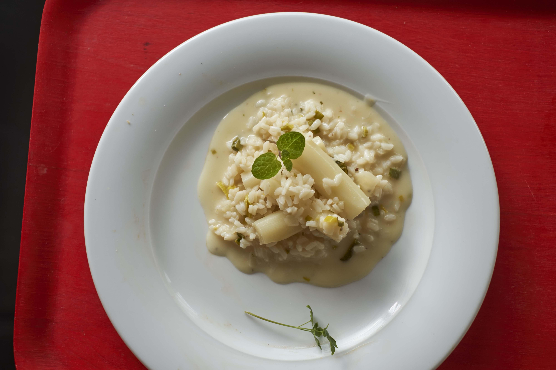 Risotto Blanc de Beige mit Lupinenmehl